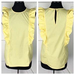 Michael Kors Flutter Tank In yellow